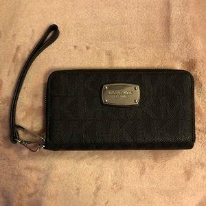 MK Black Wristlet Wallet